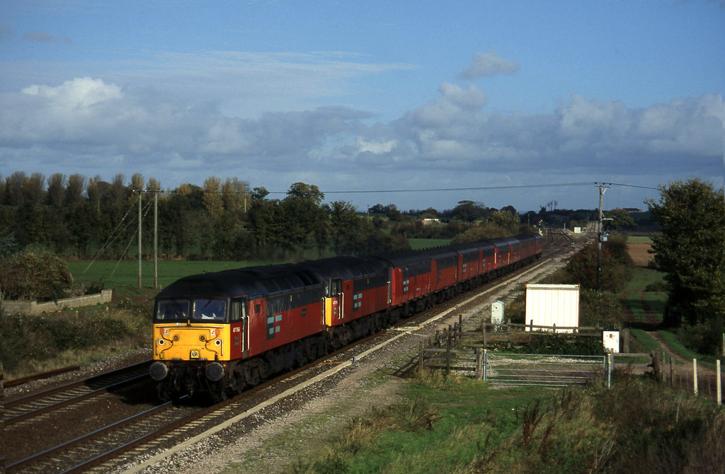 47766/47779, 12.15 Bristol Temple Meads-Plymouth, Cogload, 5-11-96 (early).