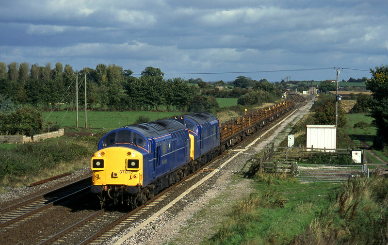 37013/37371, down rails, Cogload, 15-10-96.