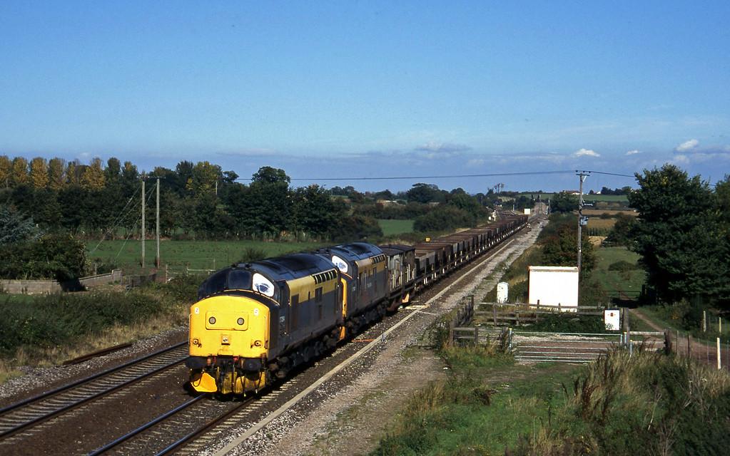 37254/37197, Newport Alexandra Dock Junction-Exeter Riverside Yard, Cogload, 2-10-96.