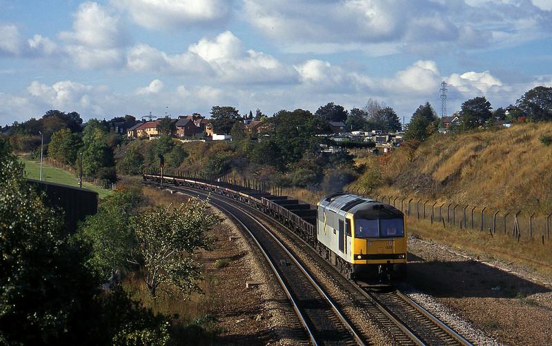 60023, Wolverhampton Steel Terminal-Scunthorpe BSC, Rotherham, 1-10-96.