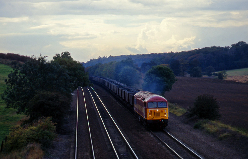56120, eastbound mgr empties, Melton Ross, near Barnetby, 1-10-96.