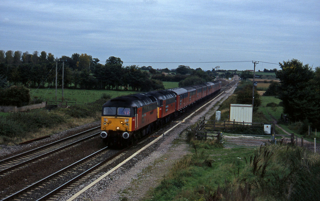 47742/47770, 12.14 Bristol Temple Meads-Plymouth, Cogload, 9-10-96.