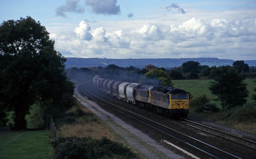 47237/47218, Exeter Riverside Yard-Dollands Moor, Cogload, 9-10-96.
