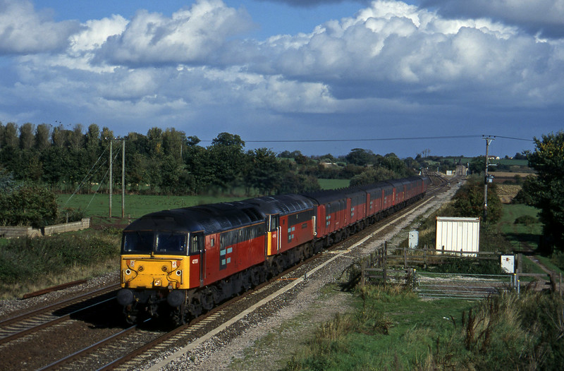 47759/47742, 12.15 Bristol Temple Meads-Plymouth, Cogload, 15-10-96.