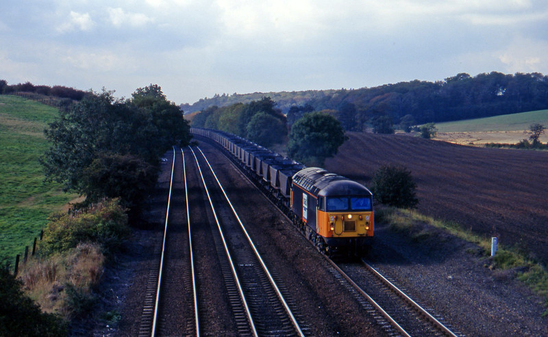 56111, eastbound mgr empties, Melton Ross, near Barnetby, 1-10-96.