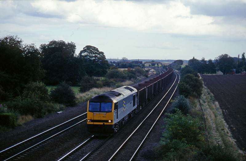 60054, westbound ore, Melton Ross, near Barnetby, 1-10-96.