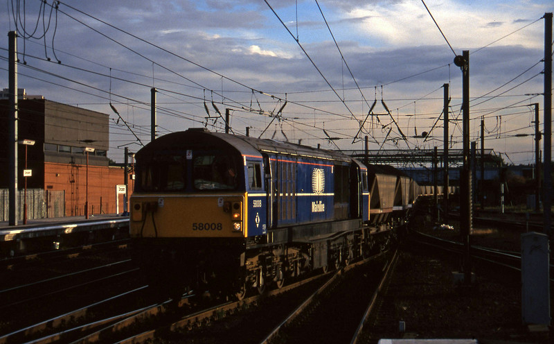 58008, northbound mgr, Doncaster, 1-10-96.