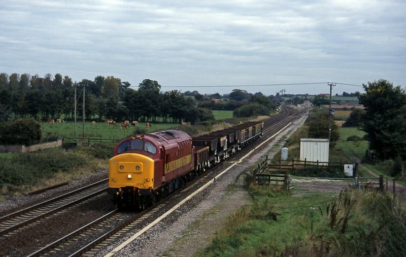37370, down ballast empties, Cogload, 9-10-96.