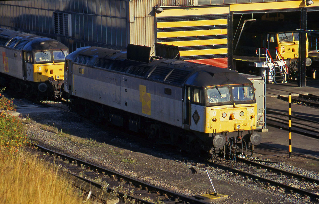 47293/47328/47234, stabled, Sheffield Tinsley TMD, 1-10-96.