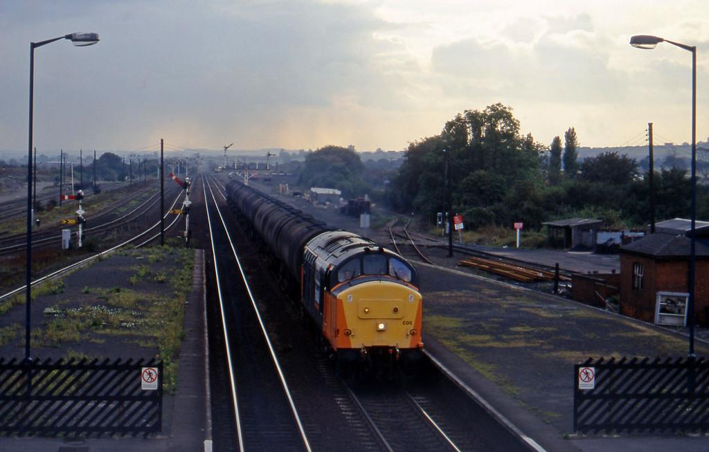 37698, eastbound tanks, Barnetby, 1-10-96.