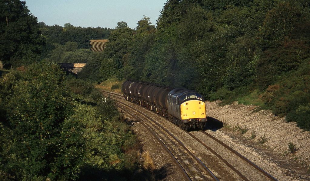 37715, 13.34 Fawley-Plymouth Tavistock Junction Yard, Whiteball, 13-9-96,