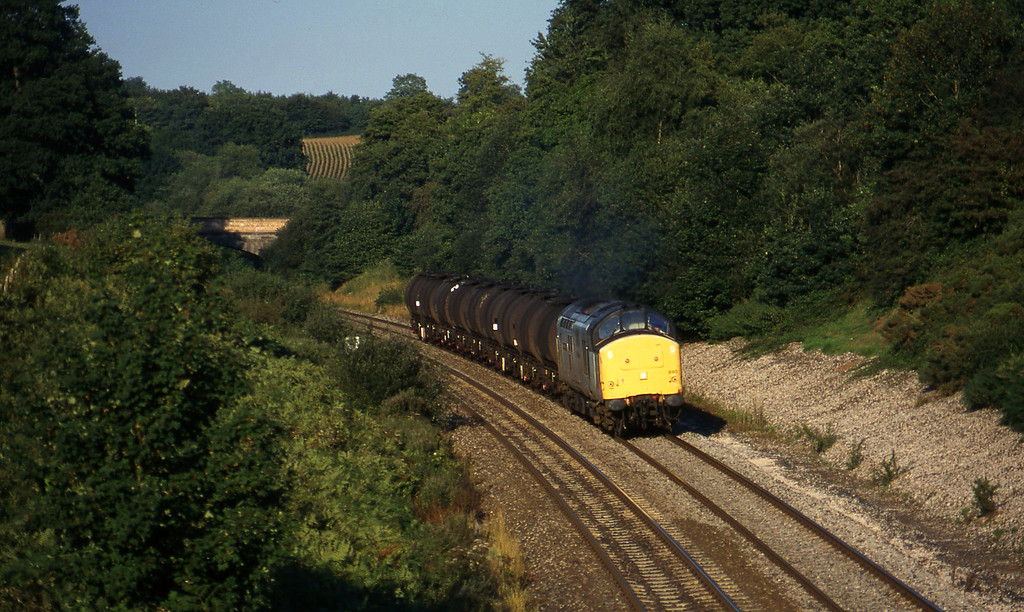 37890, 13.34 Fawley-Plymouth Tavistock Junction Yard, Whiteball, 6-9-96.