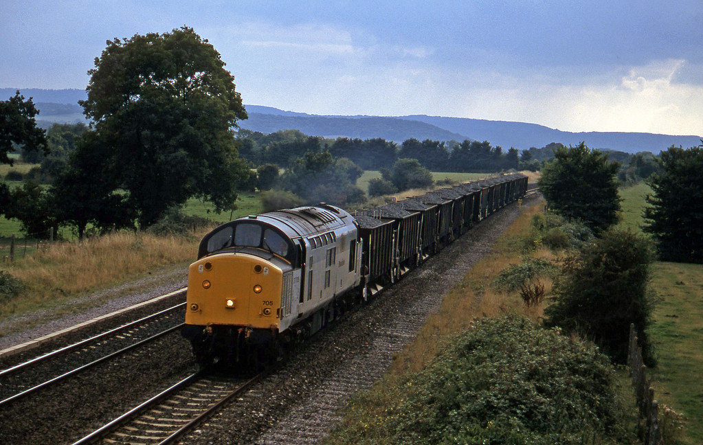 37705, up ballast, Cogload, 10-9-96.