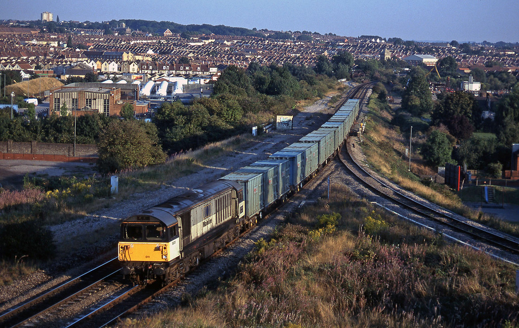 58011, 17.47 Bath RTS-Westerleigh RTS, Narroways Hill Junction, Bristol, 17-9-96.