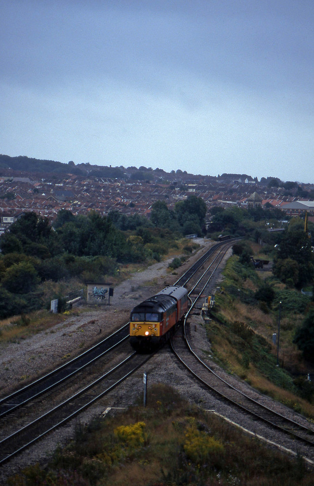 47769, up van, Narroways Hill Junction, Bristol, 26-9-96.