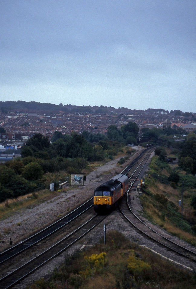 47727, up van, Narroways Hill Junction, Bristol, 26-9-96.