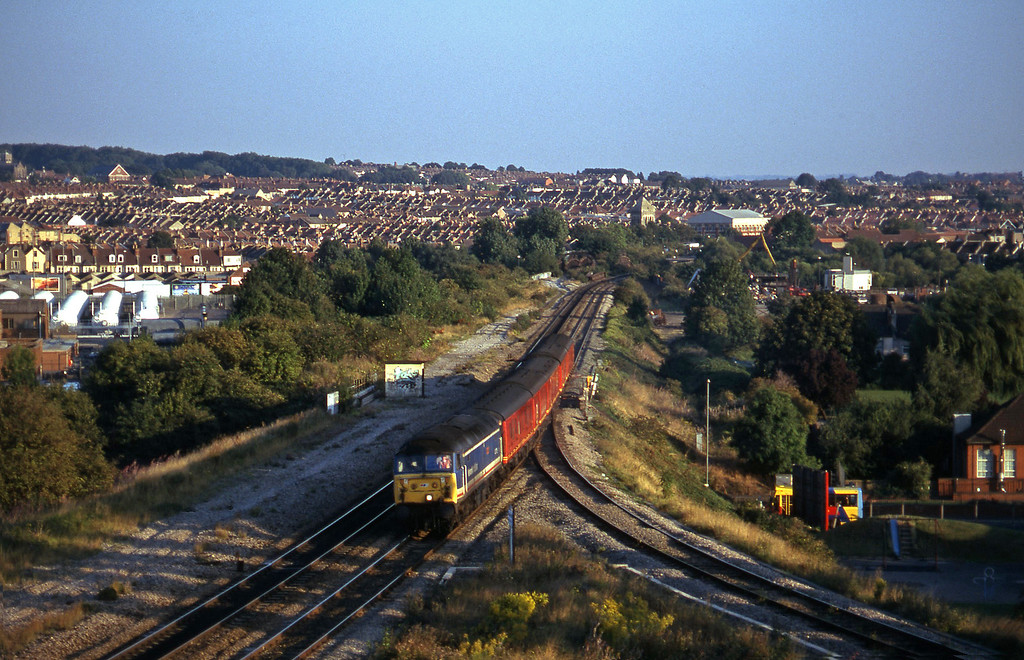 47715, up vans, Narroways Hill Junction, Bristol, 17-9-96.