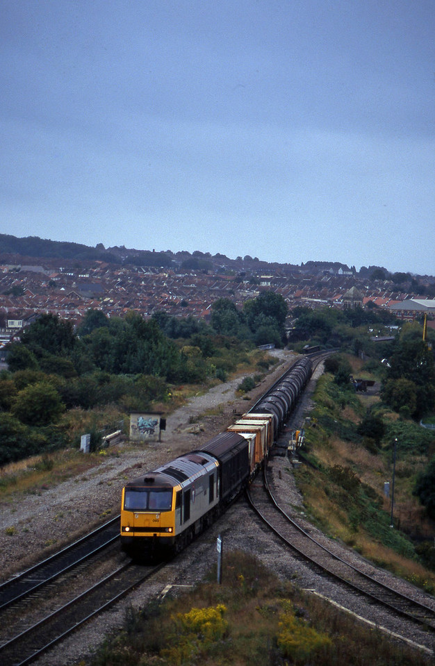 60093, 09.40 Burngullow-Irvine, Narroways Hill Junction, Bristol, 26-9-96.