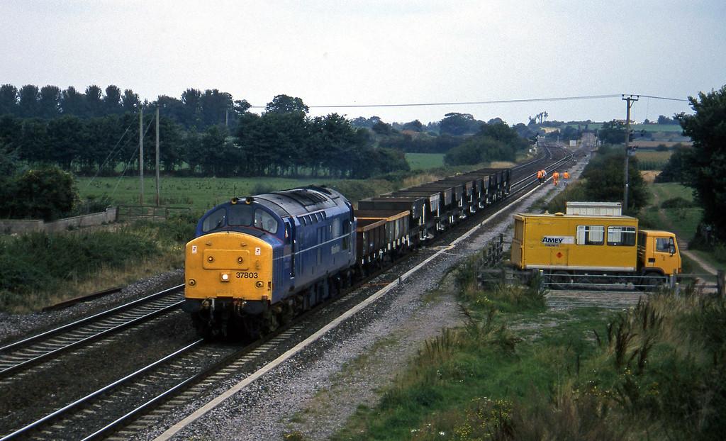 37803, down ballast empties, Cogload, 10-9-96.