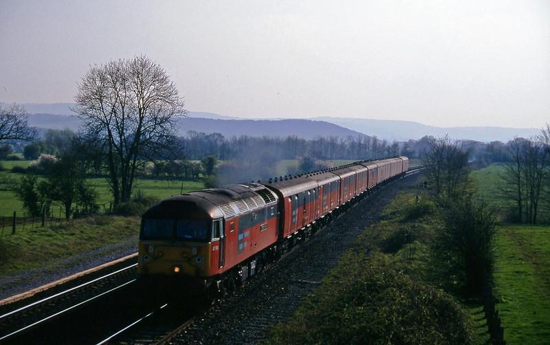 47784, 15.10 Plymouth-Low Fell, Cogload, 1-4-97.