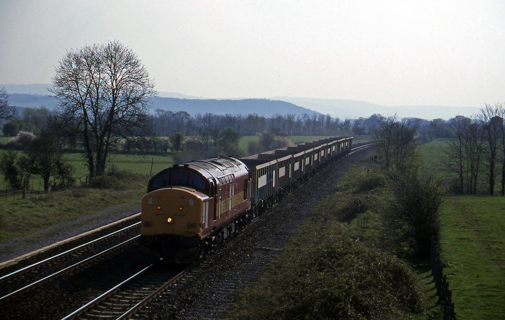 37883, up stone empties, Cogload, 1-4-97.