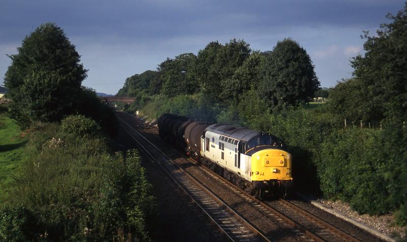 37892, 13.34 Fawley-Plymouth Tavistock Junction Yard, Willand, near Tiverton, 15-8-97.