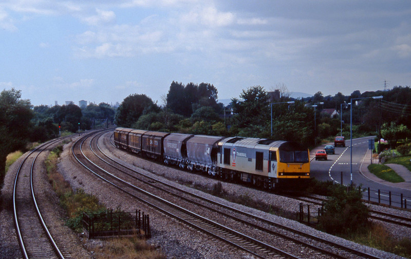 60096, 13.45 Newport Alexandar Dock Junction-St Blazey, Magor, 13-8-97.