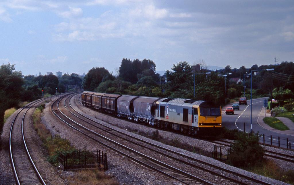 60096, 13.45 Newport Alexandar Dock Junction-St Blazey, Magor, 13-8-97.