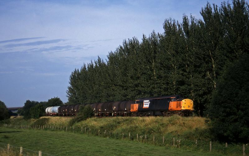37713, 17.03 Westbury-Plymouth Tavistock Junction Yard, Beambridge, near Wellington, 11-8-97.