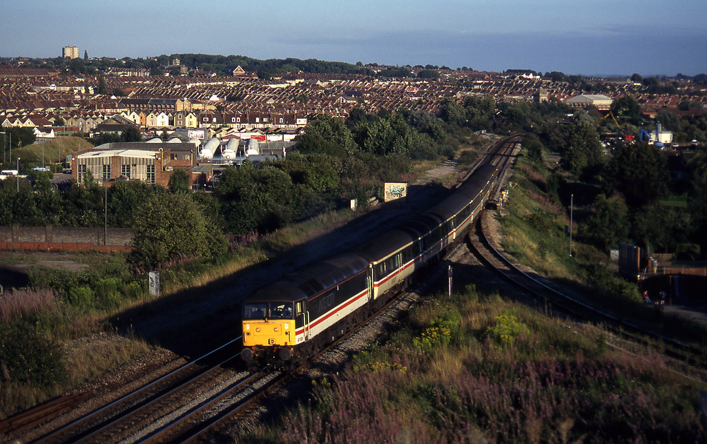 47826, 16.50 Plymouth-Sheffield, Narroways Hill Junction, Bristol, 13-8-97.