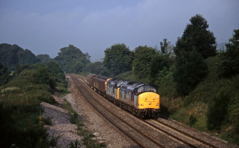 37696/37670, 04.57 St Blazey-Newport Alexandra Dock Junction, Whiteball, 12-8-97.