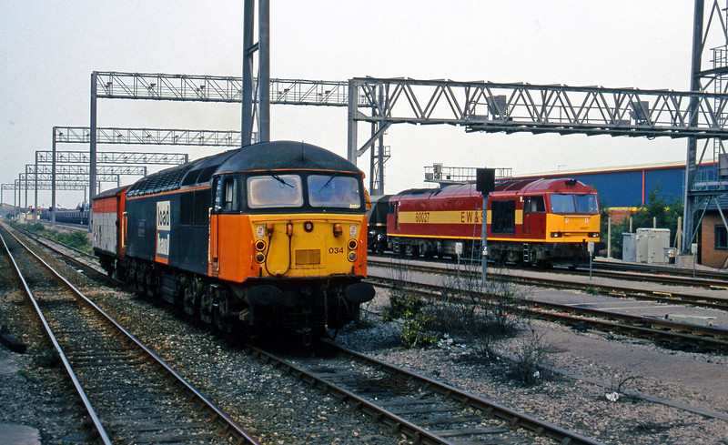 56034/60027, stabled, Avonmouth St Andrew's Road, 19-8-97.