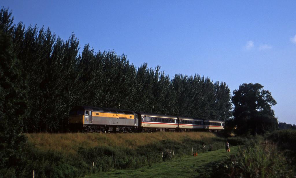 47540, 16.50 Plymouth-Sheffield, Beambridge, near Wellington, 11-8-97.
