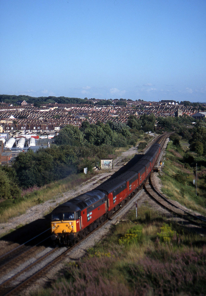 47777, 15.09 Plymouth-Low Fell, Narroways Hill Junction, Bristol, 13-8-97.