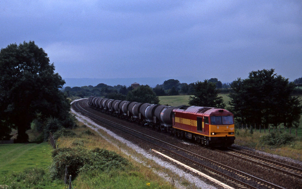 60012, 09.40 Burngullow-Newport Alexandra Dock Junction, Cogload, 12-8-97.