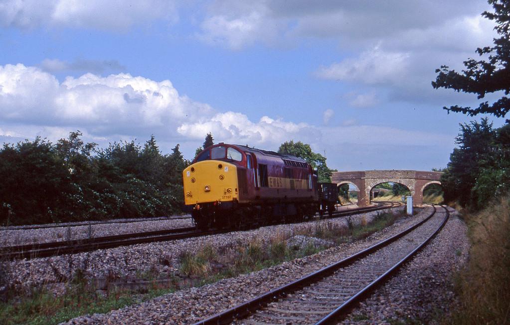 37707, 15.40 Bristol Stoke Gifford Yard-Newport Alexandra Dock Junction, Magor, 13-8-97.
