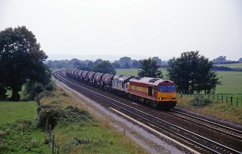 60012/37229, 09.40 Burngullow-Newport Alexandra Dock Junction, Cogload, 19-8-97.