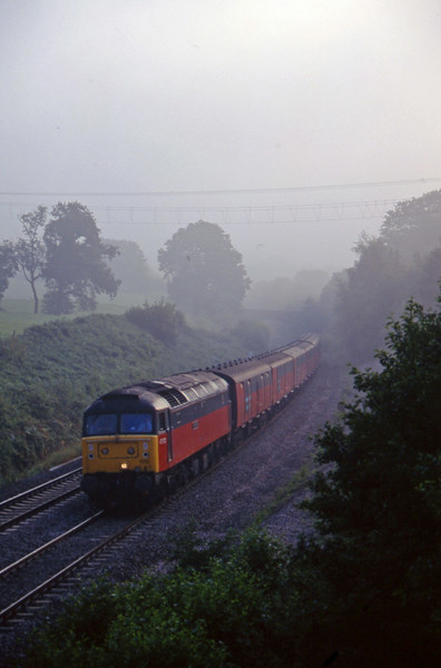 47572, 07.15 Bristol Temple Meads-Plymouth, Whiteball, 8-8-97.