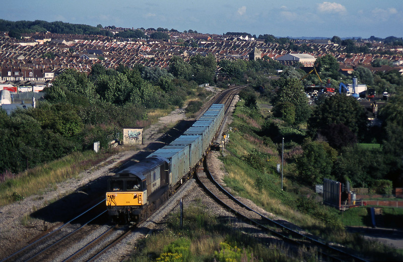58020, 17.47 Baty RTS-Calvert, Narroways Hill Junction, Bristol, 13-8-97.