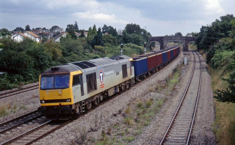60096, 04.56 St Blazey-Newport Alexandra Dock Junction, Magor, 13-8-97.