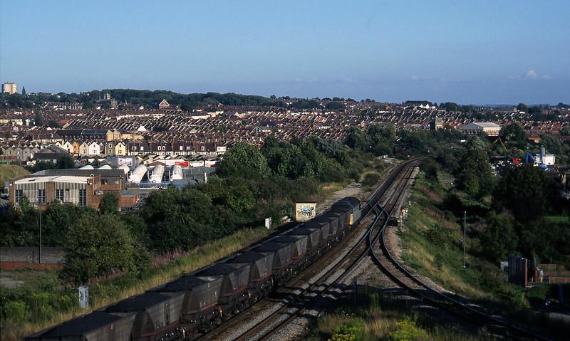 56081, 14.07 Parc Slip-Westbury Cement Works, Narroways Hill Junction, Bristol, 13-8-97.