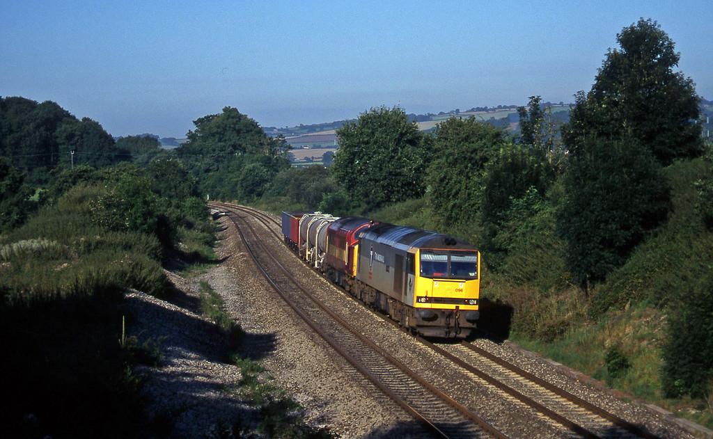 60096/37668, 04.56 St Blazey-Newport Alexandra Dock Junction, Whiteball, 15-8-97.