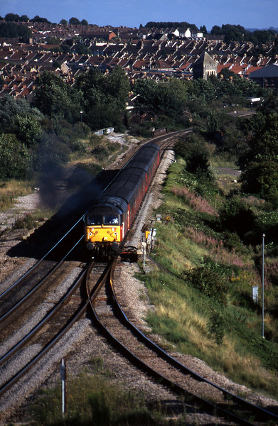 47777, 15.09 Plymouth-Low Fell, Narroways Hill Junction, Bristol, 13-8-97.