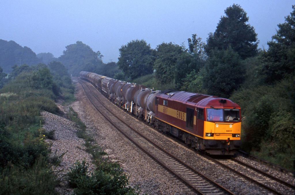 60017, 04.56 St Blazey-Newport Alexandra Dock Junction, Whiteball, 8-8-97.