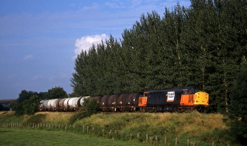 37713, 13.34 Fawley-Plymouth Tavistock Junction Yard, Beambridge, near Wellington, 12-8-96.