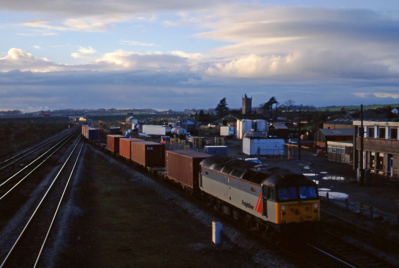 47358, 14.39 Cardiff Pengam-Southampton, Severn Tunnel Junction, 2-12-97.