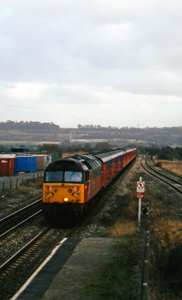 47761, 14.33 Bristol Temple Meads-Cardiff Central, Pilning, 25-2-97.
