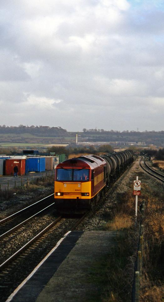 60041,9.40 Burngullow-Newport Alexandra Dock Junction, Pilning, 25-2-97.