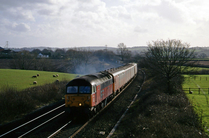 47768, 13.53 Plymouth-Bristol Temple Meads, Willand, near Tiverton, 18-2-97.