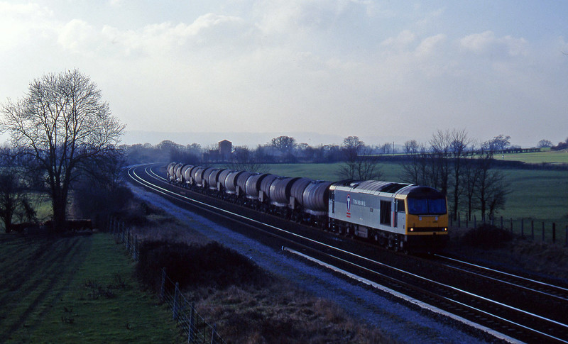 60089, 09.40 Burngullow-Newport Alexandra Dock Junction, Cogload, 28-1-97.